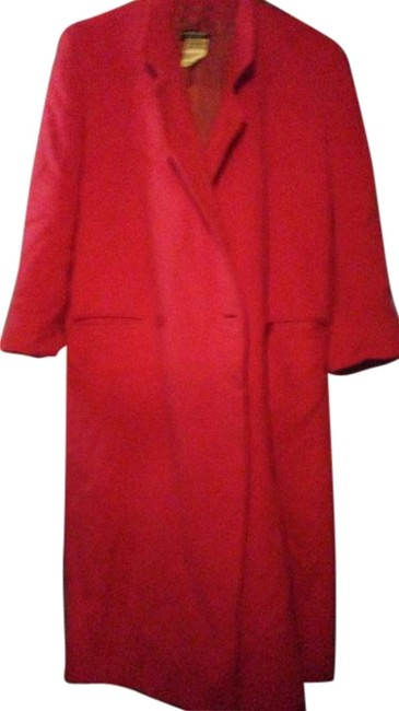 Item - Red Large Wool and Cashmere Coat Size 14 (L)