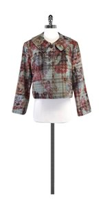 St. John Floral Plaid Wool Jacket