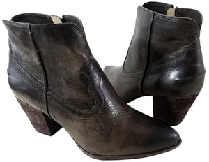 Frye Italian Leather Leather Lined Slate Boots