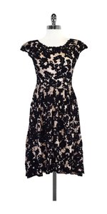 Yoana Baraschi short dress Black Nude Floral Lace on Tradesy
