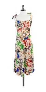 Diane von Furstenberg Botainical Print Silk Dress