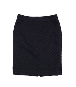 Giorgio Armani Black Textured Pencil Skirt