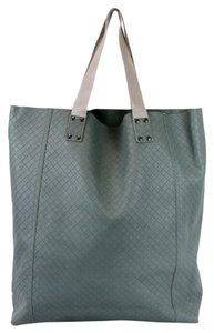 Bottega Veneta Large Intrecciomirage 329788 Tote in Grayish Green