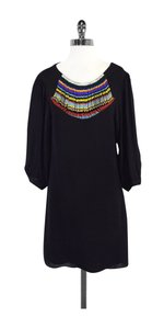 Tibi short dress Black Silk Beaded Neckline on Tradesy