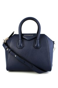 Givenchy Mini Antigona Sugar Antigona Satchel in Navy