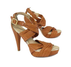 Pour La Victoire Brown Leather Strappy Sandal Sandals