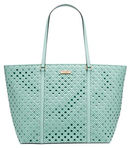 Kate Spade Newbury Lane Caining French Navy Tote in gRACE bLUE