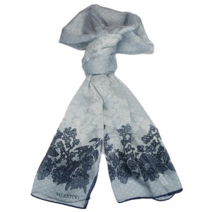 Valentino Valentino Blue Floral Silk Ladies Scarves