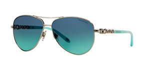 Tiffany & Co. TF 3049 60019S (color) SILVER with TIFFANY BLUE LENS - FREE 3 DAY SHIPPING