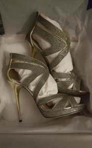 Jimmy Choo Party Evening Formal Gold Sandals