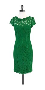 Monique Lhuillier short dress Green Lace Short Sleeve on Tradesy