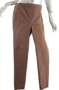 Brunello Cucinelli Cotton Stretch Straight Pants Brown