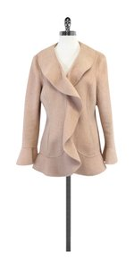 St. John Pink Angora Wool Flared Jacket