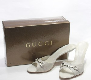 Gucci Heels Beige off white Mules