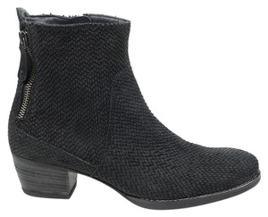Paul Green Dory 5 Metallic Suede Bootie Black Boots