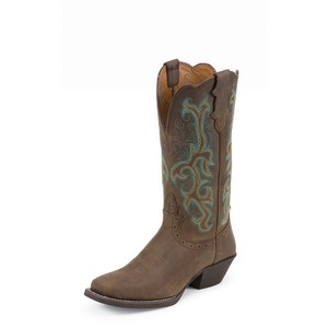 Justin Boots Western brown/ teal Boots