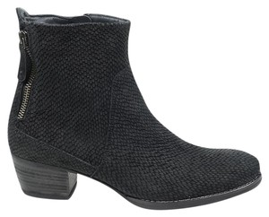 Paul Green Dory Metallic Suede 8 Black Boots