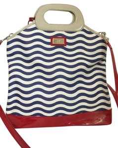 Lulu Guinness Tote in Blue, Red & White