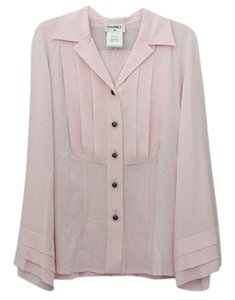 Chanel Pleated Top Pink