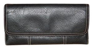 Clarks CLARKS Women Wallet Bi Fold Clutch Pebbled Leather Black
