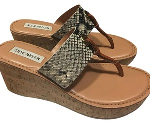 Steve Madden Natural Snake Wedges