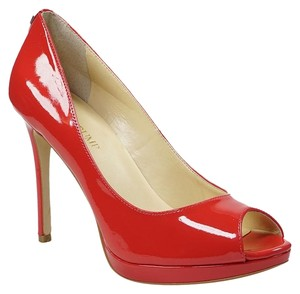 Ivanka Trump Maggie 7.5 Patent Leather Red Pumps