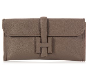 Hermès Taupe Hr.k0923.11 Envelope Clutch