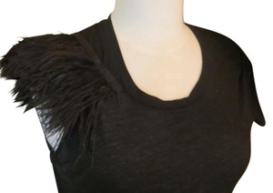 liakes Feather Club Evening Top Black
