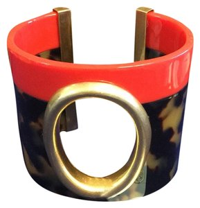 Tory Burch Tory Burch Leopard Resin Oval Cuff