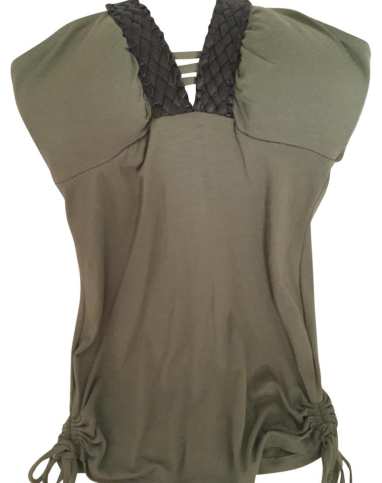 0f211687cab9d2 Guess Green Leather Strap Tank Top Cami Size 2 (XS) - Tradesy