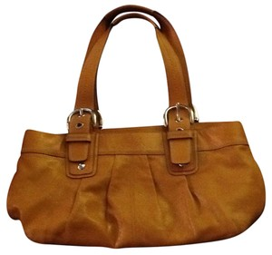 Coach Tote in Light Brown/ Mustard