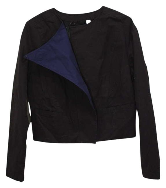 Puma by Hussein Chalayan Color-blocking Designer Sportswear Asymmetrical Zipper Hardware Lightweight black/blue Jacket