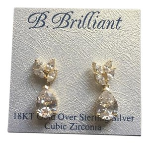 B.Brilliant Hoop earrings