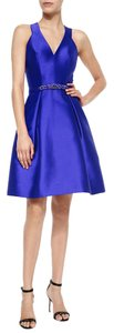 Theia Taffeta A-line Party Jeweled Fit-and-flare Dress