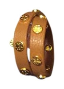 Tory Burch Tory Burch Double Wrap Logo Bracelet NWT Brown Leather Made in USA