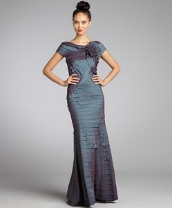 Tadashi Shoji Grey With Purple Iridescence Dress