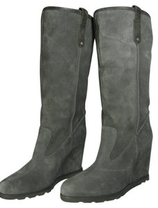 UGG Australia Suede Wedge Winter GRAY Boots