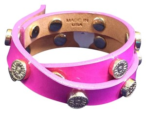 Tory Burch Tory Burch Pink Double Wrap Bracelet