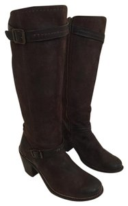 Frye Oiled Suede Brown Boots