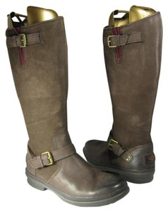 UGG Australia Suede Shearling Tall Brown Boots