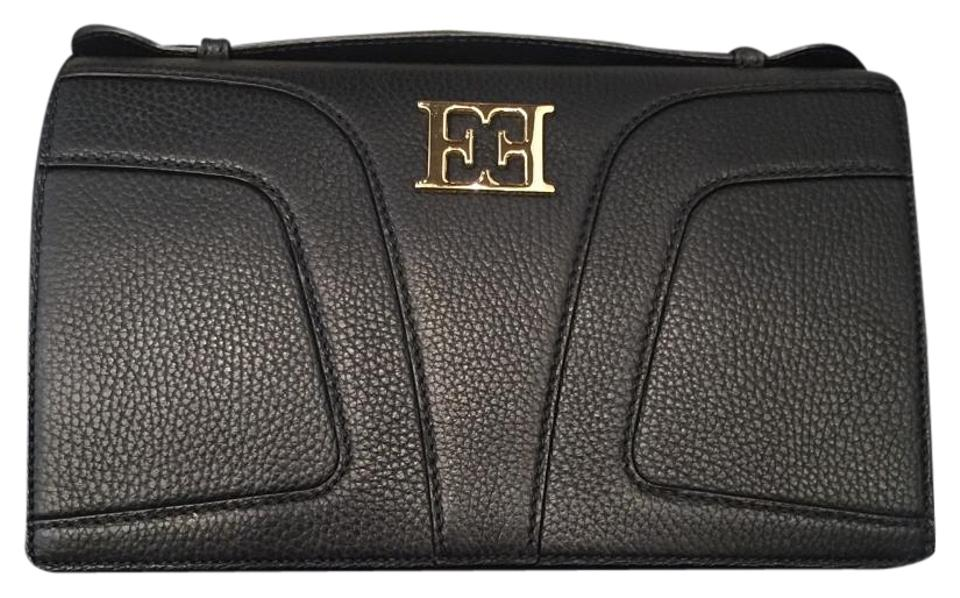 Escada Black Leather Clutch - Tradesy feb7b13b2f3f0
