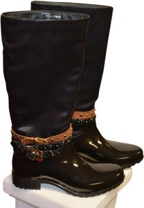 Other Faux Patent Mongram Black Boots