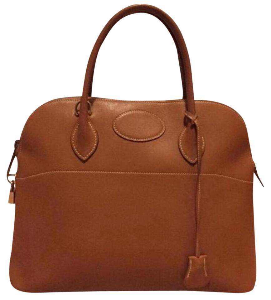 7655e73cae Hermès Bolide Hand with Strap Gulliver Brown Leather Shoulder Bag ...