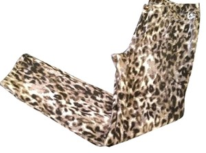 Queen Collection Jean Leopard Animal Print 5 Pocket Pants
