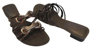 Bandolino Brand New Leather Size 8.00 M Excellent Condition Copper, Sandals