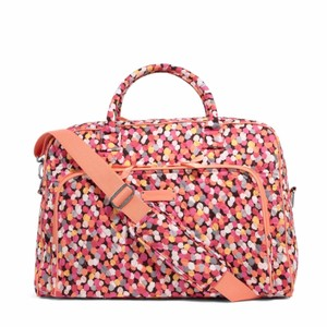 Vera Bradley Satchel Overnighter Carry On Pixie Confetti Travel Bag