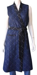 Blue Maxi Dress by Sea New York Jacket Wrap Denim