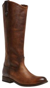Frye Melissa Leather Riding Dark Brown Boots