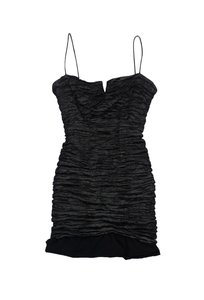 Nicole Miller short dress Black Ruched Bodycon on Tradesy