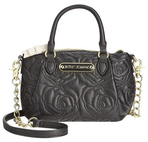 Betsey Johnson Quilted Rose Design Cross Body Bag